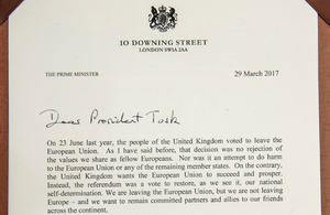 Letter to Downing Street