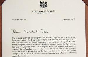Resumen de la carta entregada por la primera ministra a Donald Tusk