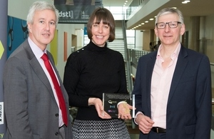 James Kirby Ploughshare CEO, Jenni Henderson Dstl Transformation Director and Nigel Clifford OS CEO.