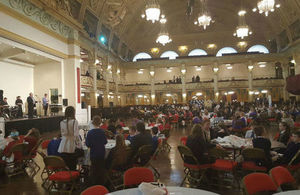 Event in progress at Blackpool Winter Gardens