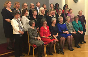 Group photo of 24 women and one man