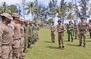 His Majesty visits the First Battalion, the Royal Gurkha Rifles at Tuker Lines, Seria
