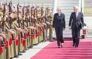 Prime Minister Theresa May and HMA to Jordan Edward Oakden