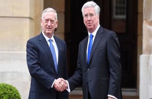 Defence Secretary Michael Fallon and US Secretary of Defense James Mattis