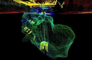 Laser scan of the void beneath Kilbowie Road