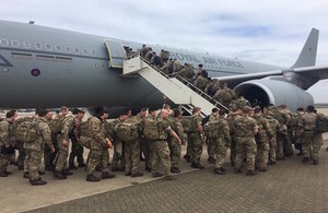 UK troops in Estonia and Poland