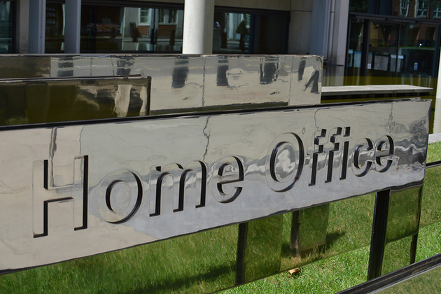 Home Office sign outside building
