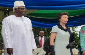 HRH Princess Anne and President Ernest Bai koroma at the State Reception