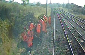 Image of track workers (courtesy of FTPE)