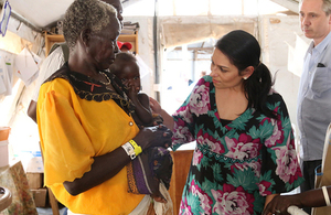 Priti Patel meets South Sudanese refugees who have fled ruthless violence and rely on UK aid as a lifeline.