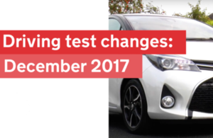 Driving test changes from December 2017