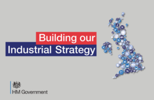 Industrial Strategy logo.