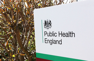 PHE logo and sign