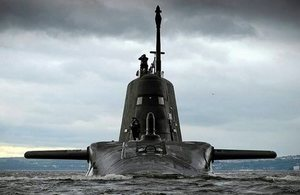 HMS Artful, boat three of seven of the Astute class submarines.