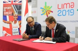 El Perú recibe apoyo del Reino Unido para llevar a cabo de manera exitosa los Juegos Lima 2019