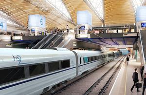 Impression of HS2 train