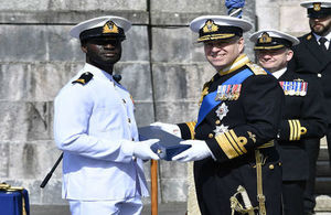 SLt. George Acquah of the Ghana Navy