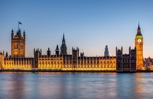 The Houses of Parliament and Big Ben, London lit up at night