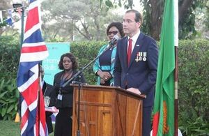 British High Commissioner Fergus Cochrane-Dyet at the QBP