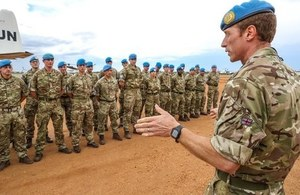 The latest deployment of British troops has arrived in South Sudan. Picture: UNMISS.