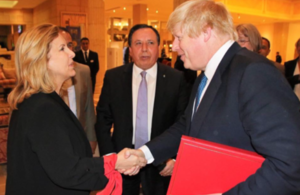 Foreign Secretary Boris Johnson and Tunisian Ministers of Tourism and Foreign Affairs