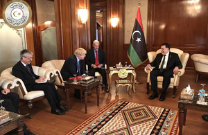 Foreign Secretary Boris Johnson meeting PM Serraj