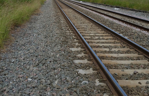 Library image of track and ballast