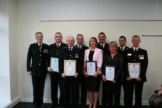 Chief Constable, Paul Gilmartin, Peter Robinson, Barry Parker, Karen Seath, Mike Caley, Alison Barber, Marc Easterbrook, Keith Atkinson