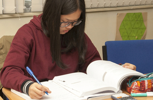 female learner studying