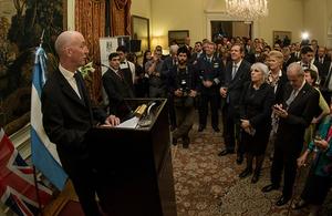 El discurso del Embajador en la celebración del Cumpleaños de la Reina en Argentina