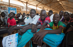 Young residents of Protection of Civilians site (PoC 3) in Juba, South Sudan