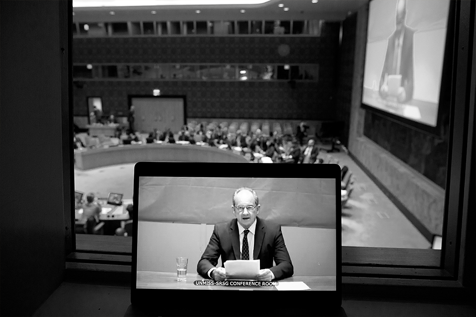 David Shearer, Special Representative of the Secretary-General and Head of the United Nations Mission in South Sudan (UNMISS), briefs the Security Council.