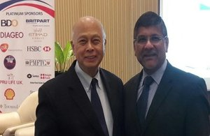 Asif Ahmad, British Ambassador to the Philippines with Jesus Tambunting OBE