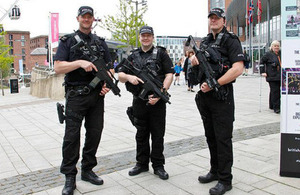 Officers patrolling in Liverpool