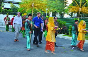 HRH Prince Harry joins in an Iftar with young Singaporeans