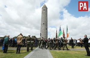 Ireland Peace Park on the day of the Messines commemoration