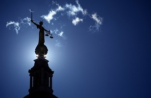 Lady Justice Statue Old Bailey