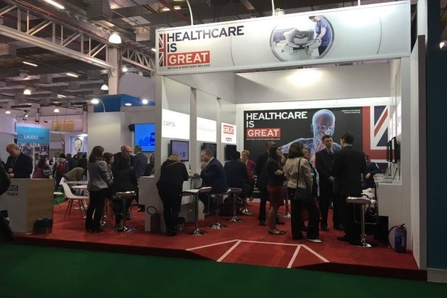 Healthcare UK stand at Hospitalar 2017