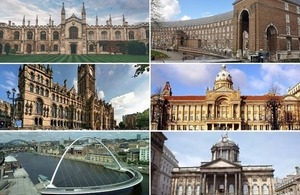 Images of the 6 cities with metro mayors