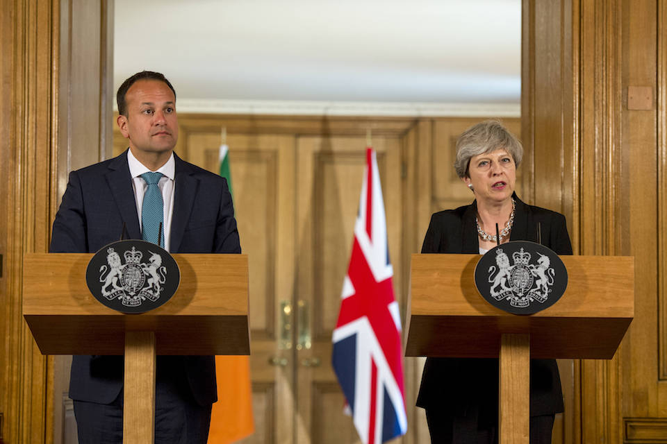 Image of Prime Minister Theresa May with Taoiseach Leo Varadkar