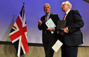 David Davis & Michel Barnier Press Conference