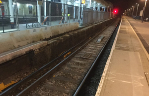 Ascot station platform 1 (courtesy of Network Rail)