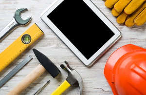 DIY tools and a tablet