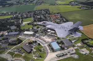 RAF F-35 flying over RAF Marham
