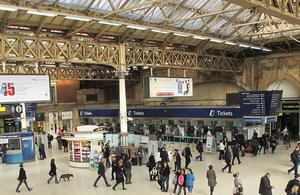 London Victoria railway station.