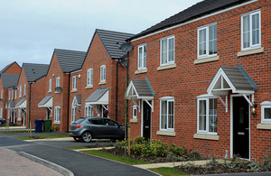 Row of new build homes.