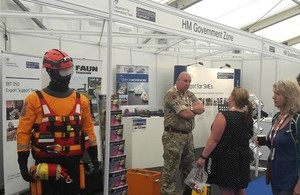 HM government stand at Seawork 2017