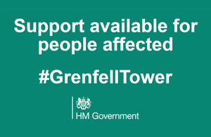 Support available for people affected #GrenfellTower