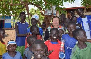 Ambassador Susanna Moorehead at the Nguenyyiel refugee camp in Gambella