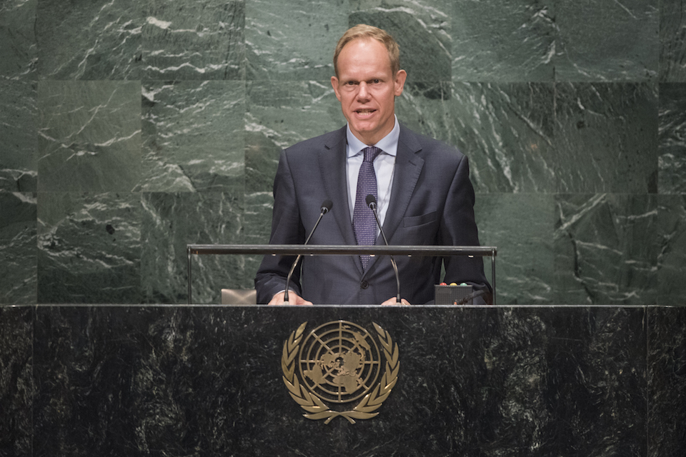 Matthew Rycroft in UN General Assembly